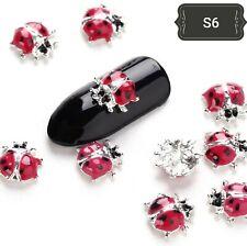 DIY 3D Nail Art Decoration Ladybird Metal Alloy Rhinestone Gems Stickes UK#1