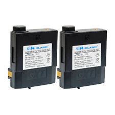 2 pack Original Battery for Midland Radio GXT2000 GXT2050 BATT12LI 7.4V 1200mAH