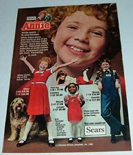 1982 SEARS ABSOLUTELY ANNIE CLOTHING COLLECTION~AILEEN QUINN~COLUMBIA PICTURES