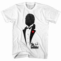 Godfather Men's T Shirt Don Corleone Tuxedo Silhouette Red Rose Mafia Boss Movie