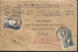 J) 1948 SRI LANKA, PLUCKING TEA, MULTIPLE STAMPS, AIRMAIL, CIRCULATED COVER, FRO