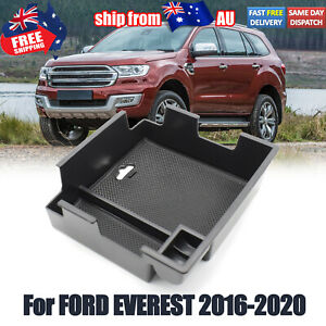 For Ford Everest 2016- 2020 Black Armrest Storage Box Glove Box Tray Accessories