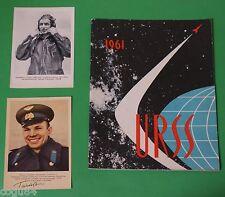 1961 URSS + Due Cartoline di Jurij Gagarin