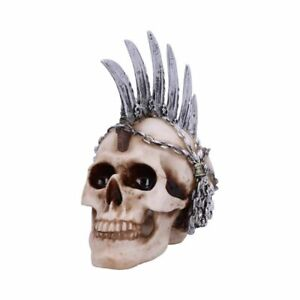 Chain Blade Nemesis Now Skull U4945R0 Mohican Mohawk Knife Skull Ornament
