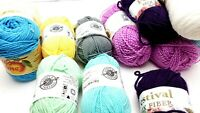 Lot of 13 Skein Mixed Color Yarn Good Overall Condition loop and thread Caron