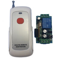 1 Channel Receiver DC12V & 1 Buttons RF Wireless Commander Remote Controller