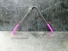 Ayurveda Zungenreiniger aus Edelstahl, Zungenschaber (pink)
