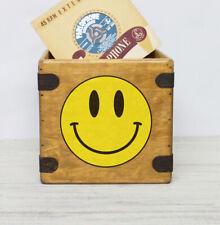 "Acid Smiley Record Box 7"" Single Box Vintage Rave Dance Music"