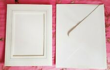 Card & Envelope ~ Aperture for Craft or Photo Insert ~ White & Silver