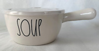 """Rae Dunn Large Ceramic """"SOUP  Bowl With Vent Lid with Handle NEW!"""