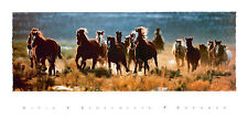 RoundUp by David Stoecklein Art Print Cowboy Horse Western Poster 38x20