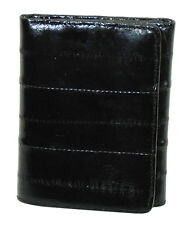 Genuine EEL SKIN Leather Men's Light weight Trifold Thin Wallet Front Pocket