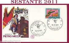 ITALIA, FDC FILAGRANO 1977 PIETRO MICCA ANNULLO FIRENZE H254