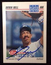 DEREK BELL 1992 SKY BOX PRE ROOKIE Autographed Signed AUTO Baseball Card 290