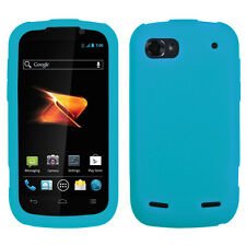 For ZTE Warp Sequent N861 SILICONE Soft Rubber Gel Skin Case Phone Cover Teal