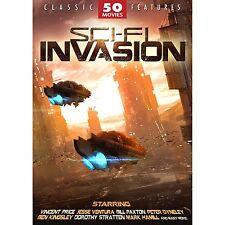 SCI-FI INVASION Classic 50 movies DVD Box Set 12 Discs 70 hrs+34mins NEW