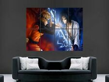 NARUTO VS SASUKE POSTER MANGA JAPANESE GIANT HUGE ART PRINT FANTASY