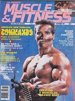 NOV 1985 MUSCLE & FITNESS  muscle magazine - Arnold Schwarzenegger