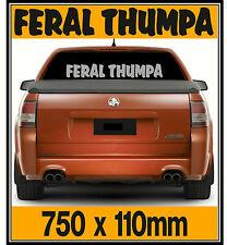 Feral Thumpa Windscreen, Tailgate, Ute, Sticker Decal, 750 x 110mm