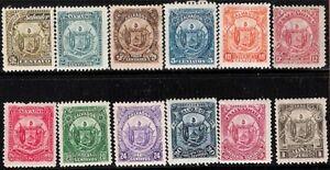 El Salvador Scott #117-28, Singles 1895 Complete Set FVF MH/USED