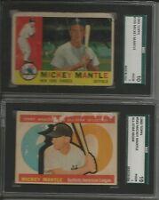1960 Topps Baseball Card 352/572 set/lot Mickey Mantle 350 563 Hi #s Mays Aaron