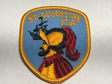St Augustine Fla Florida Conquistador Ship Man Blue Yellow Embroidered Patch G