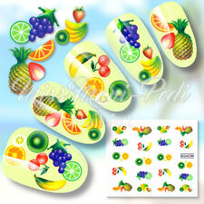 NAIL Art Water Trasferimenti Adesivi decalcomanie frutto tropicale estate cocktail K043