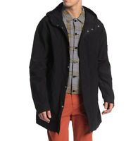 John Varvatos Star USA Men's Long Sleeve Lightweight Hooded Parka Jacket Black