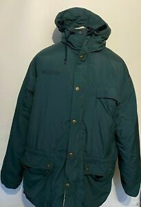 VINTAGE Columbia Men's Thick Winter Coat Lined XL Extra Large Hooded Blue