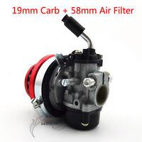 Carb Carburetor Air Filter For 50 60 66 80cc 2 stroke Gas Motorized Bike Bicycle