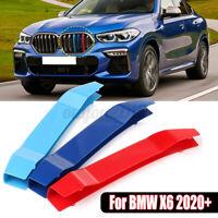 For BMW X6 2020+ Front Kidney Grill Grille Cover Clip StripTrim M- 3  !A @ L
