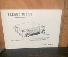 Channel Master 6289 AM/FM Car Radio Installation & Schematic Manual.