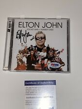 ELTON JOHN  Rocket Man Number Ones AUTOGRAPHED SIGNED CD Rare PSA/DNA