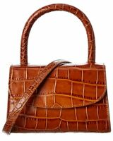 By Far Mini Croc-Embossed Leather Tote Women's