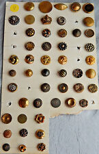 Lot of 49 Vintage Antique Buttons Mix of Brass and Plastic #V