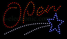 LED Schild Open mit Bild Star Blinken Reklame geöffnet Animation Neon Indoor