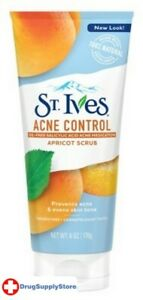 BL St Ives Scrub Apricot Acne Control 6 oz Tube - Two PACK