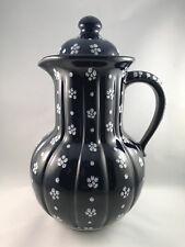 Gmundner Keramik Dirndl Blau Kaffeekanne
