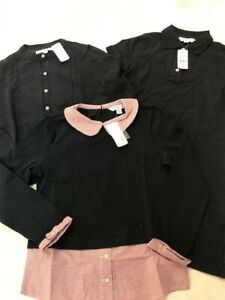 New Brooks Brothers 3 piece set: dress + sweater + blouse top girls M 7-8Y $205