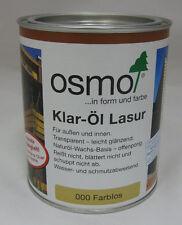 Klar-Öl Lasur von Osmo farblos leicht glänzend - 750 ml
