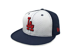 New Era 59Fifty Cap Mens Los Angeles Dodgers White Navy Blue Mesh Red Fitted Hat