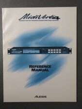 ALESIS MIDIVERB 4 REFERENCE MANUAL & program sheets, reverb instruction book