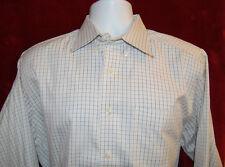 L.L. Bean Single Needle Tailoring Check Plaid Button Down Dress Shirt Mens 16-32