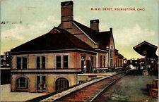 Postcard OH Youngstown B. & O. Depot - Publ. S.H. Knox & Co. - Trains - 1908 L3