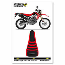 2013-2014 HONDA CRF 250 L Red/Black/Red RIBBED SEAT COVER BY Enjoy MFG