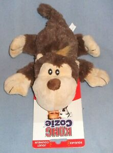 KONG COZIE Spunky Monkey Squeaking Dog Toy 10 inches Long - New