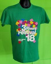 Vtg 1986 80s Three 3 Rivers Festival Shirt - Ft. Wayne Indiana Screen Stars - M