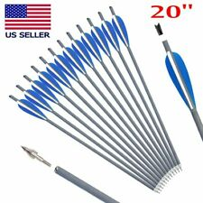 12Pcs 20 inch Carbon Crossbow Bolts Arrow Screw Tips Archery For Hunting outdoor