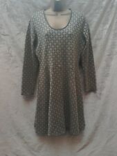 boden grey and gold knit winter dress size 14 flared skirt