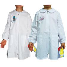 Grembiule Siggi bambina bianco zip scuola elementare con cerniera vari modelli